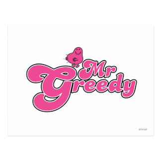 Mr. Greedy | Pink Lettering Postcard