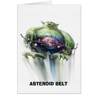 Mr Green and the ASTEROID BELT Greeting Card