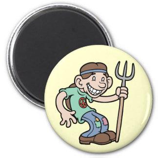 Mr. Greentees 2 Inch Round Magnet