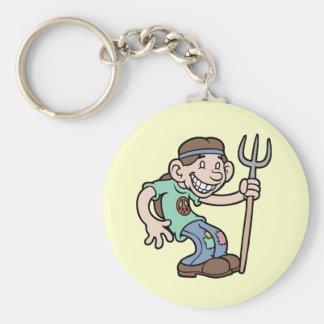 Mr. Greentees Basic Round Button Keychain