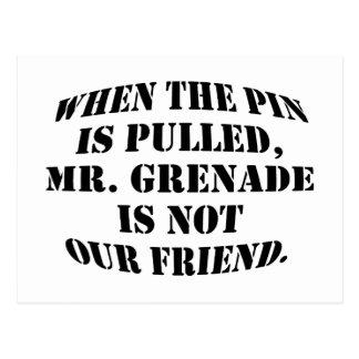 Mr. Grenade Postcard