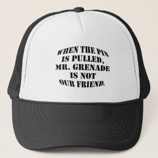 Mr. Grenade Trucker Hat