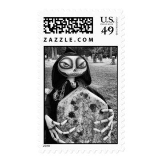 Mr. Grim Skeleton Stamp