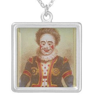 Mr Grimaldi as Clown Square Pendant Necklace