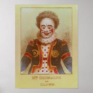 Mr Grimaldi as Clown Posters