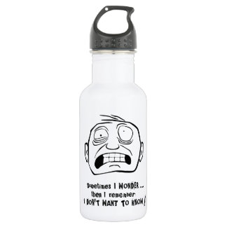 """Mr. Grimly """"I don't want to know!"""" Water Bottle"""