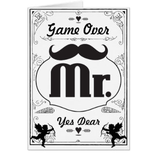 Mr. Groom Mustache Card