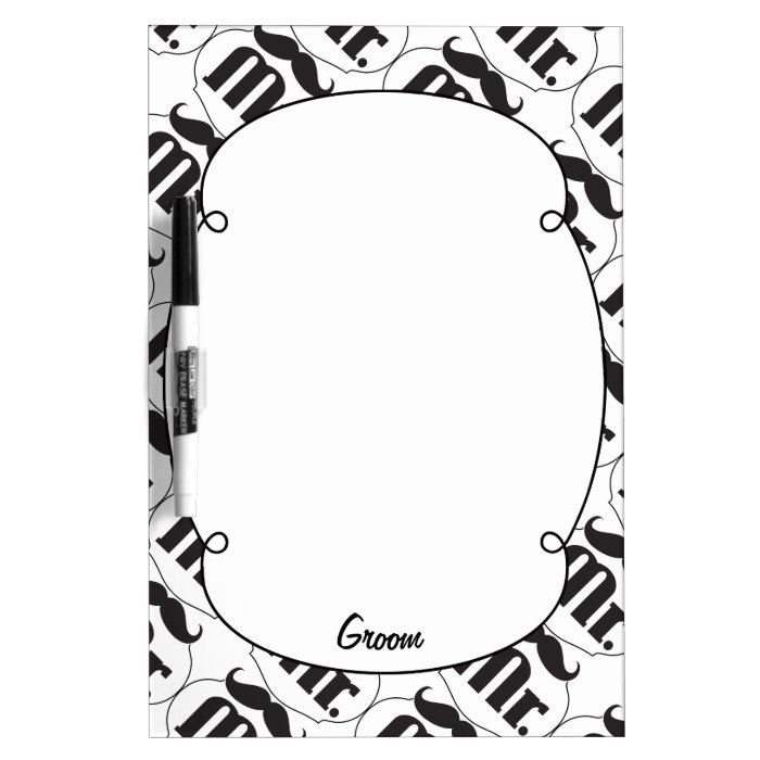Mr. Groom Mustache Dry-Erase Board