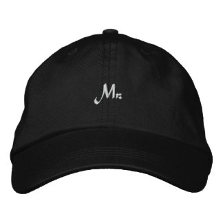 Mr. Groom Newlywed Embroidered Hat