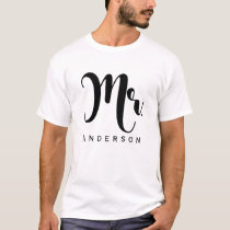 MR. Groom Trendy Modern Script Wedding Party T-Shirt