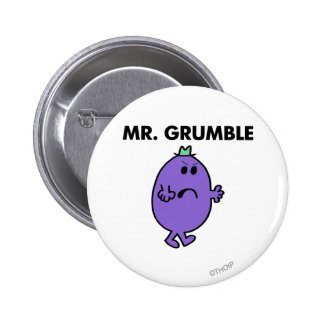 Mr Grumble Classic Pinback Buttons