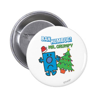 Mr. Grumpy | Bah Humbug 2 Inch Round Button