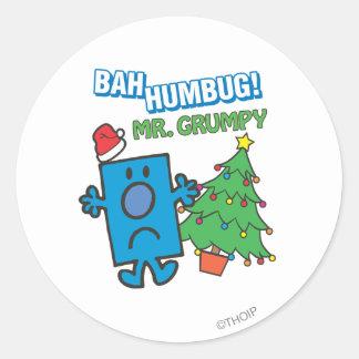 Mr. Grumpy | Bah Humbug Classic Round Sticker