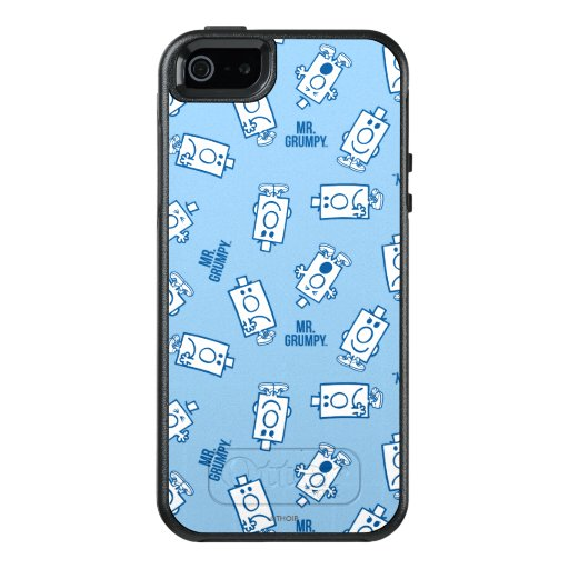 Mr Grumpy | Blue Emotion Toss Pattern OtterBox iPhone 5/5s/SE Case