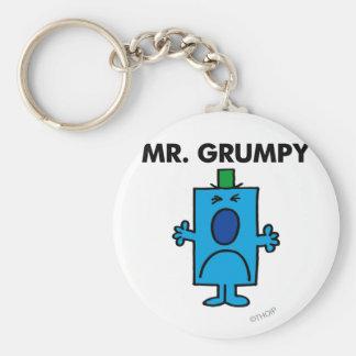 Mr Grumpy Classic Keychain