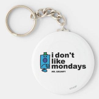 Mr. Grumpy Does Not Like Monday Keychain