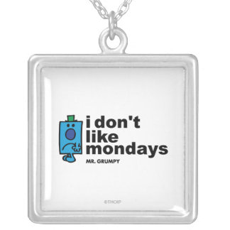 Mr. Grumpy Does Not Like Monday Silver Plated Necklace