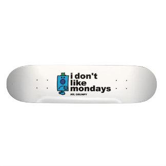 Mr. Grumpy Does Not Like Monday Skateboard Deck