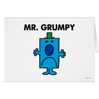 Mr. Grumpy | Frowning Face Card