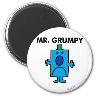 Mr. Grumpy | Frowning Face Magnet