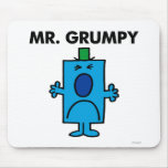 Mr. Grumpy   Frowning Face Mouse Pad