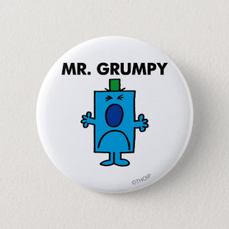 Mr. Grumpy | Frowning Face Pinback Button