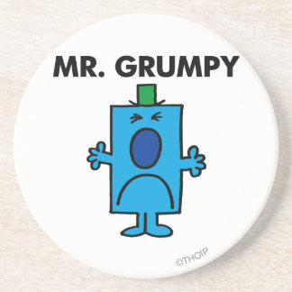 Mr. Grumpy | Frowning Face Sandstone Coaster