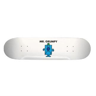 Mr. Grumpy | Frowning Face Skateboard Deck
