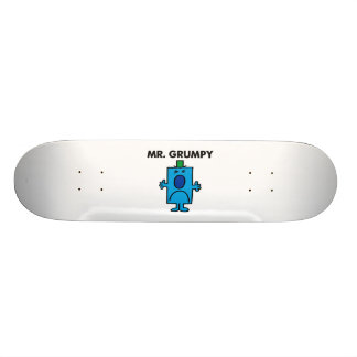 Mr. Grumpy | Frowning Face Skateboard Deck