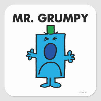 Mr. Grumpy | Frowning Face Square Sticker