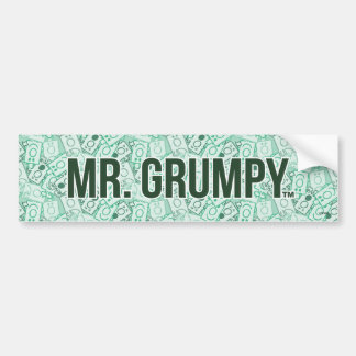 Mr Grumpy | Green Name and Character Toss Pattern Bumper Sticker