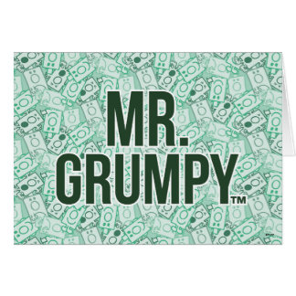 Mr Grumpy | Green Name and Character Toss Pattern Card