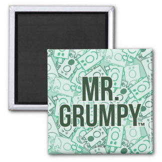 Mr Grumpy | Green Name and Character Toss Pattern Magnet