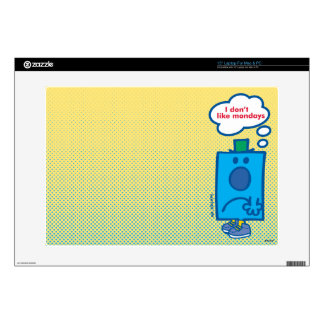 Mr Grumpy | I Don't Like Mondays Thought Bubble Decals For Laptops