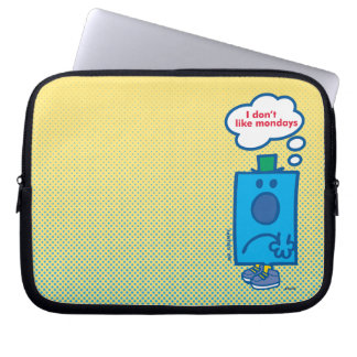 Mr Grumpy | I Don't Like Mondays Thought Bubble Laptop Sleeve