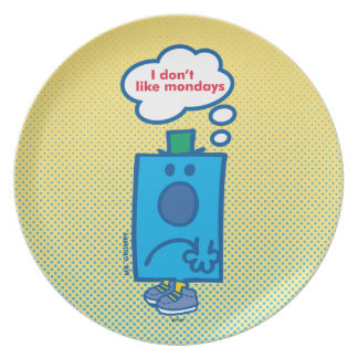 Mr Grumpy | I Don't Like Mondays Thought Bubble Melamine Plate