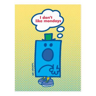 Mr Grumpy | I Don't Like Mondays Thought Bubble Postcard