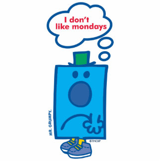 Mr Grumpy   I Don't Like Mondays Thought Bubble Statuette