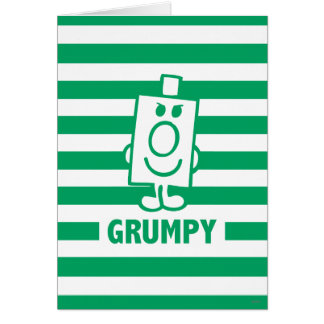 Mr Grumpy | Mischievous Grin and Green Stripes Card