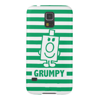 Mr Grumpy | Mischievous Grin and Green Stripes Case For Galaxy S5
