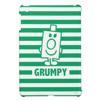 Mr Grumpy | Mischievous Grin and Green Stripes iPad Mini Cover