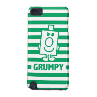 Mr Grumpy | Mischievous Grin and Green Stripes iPod Touch (5th Generation) Covers