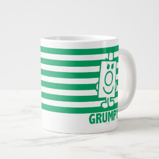 Mr Grumpy | Mischievous Grin and Green Stripes Large Coffee Mug
