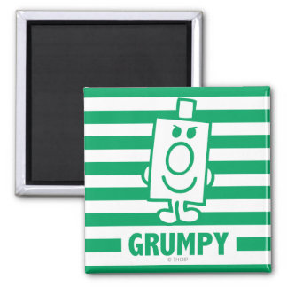 Mr Grumpy | Mischievous Grin and Green Stripes Magnet