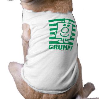 Mr Grumpy | Mischievous Grin and Green Stripes Shirt