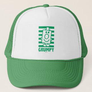 Mr Grumpy | Mischievous Grin and Green Stripes Trucker Hat