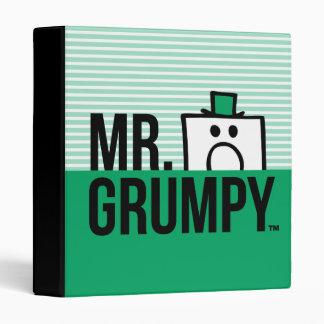 Mr Grumpy   Peeking Head Over Name 3 Ring Binder