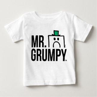 Mr Grumpy | Peeking Head Over Name Baby T-Shirt
