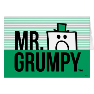 Mr Grumpy | Peeking Head Over Name Card