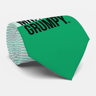Mr Grumpy | Peeking Head Over Name Neck Tie
